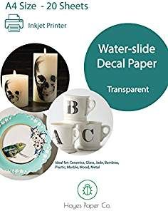 20 Sheets DIY A4 Inkjet Water Slide Decal Paper Sheets Transparent Clear