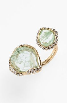 #Mint green crystal statement ring http://rstyle.me/n/gdtsvnyg6