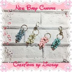New Baby Bag Charms Baby Shower Gifts Baby Boy Baby Girl