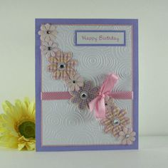 Birthday card for female, personalized card, pink and purple, for women, woman, sister, friend