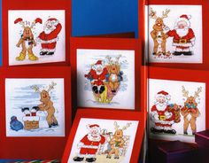 Santa and Rudolph - 1/5 Solo Patrones Punto Cruz (pág. 268) | Aprender manualidades es facilisimo.com