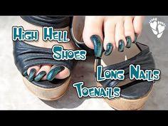 Curved Nails, Long Toenails, High Heels, Shoes Heels, Female Feet, Sexy Feet, Toe Nails, Nail Art, Youtube