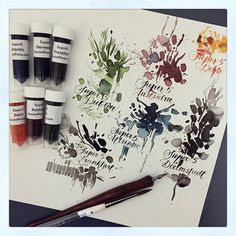 Trying the Super5 inks from @gouletpens great colours!