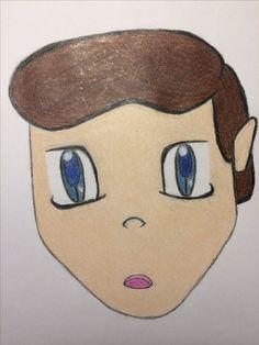 Boy - pencil, color pencil