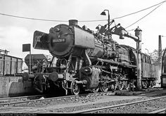 RailPictures.Net Photo: Deutsche Bundesbahn Steam 2-10-0 at Dillingen, Germany…