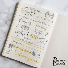 Décorer un carnet, c'est compliqué ? Passion Carnets va vous prouver le contraire avec ces 5 exercices. Que ce soit pour votre bullet journal, votre planner, prendre de plus jolies notes au travail…