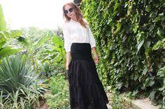 Купить Подъюбник черный (нижняя юбка) хлопок-шитье - черный, однотонный, бохо юбка