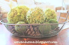 DIY Moss and Split Pea Decorative Balls