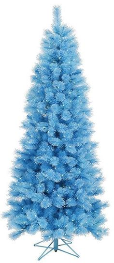 7.5' Blue Mixed Pine Cashmere Artificial Christmas Tree with Clear Lights