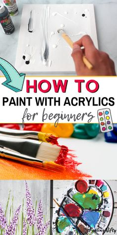 How To Use Acrylic Paint: The Ultimate Guide for BeginnersYou can find Acrylic painting techniques and more on our website.How To Use Acrylic Paint: The Ultimate Guide for Begi. Acrylic Painting Inspiration, Acrylic Painting For Beginners, Simple Acrylic Paintings, Acrylic Painting Techniques, Beginner Painting, Abstract Tree Painting, Basic Painting, Diy Painting, Abstract Art