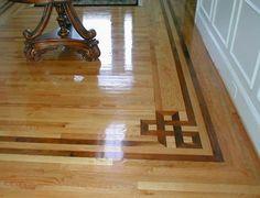 Hardwood flooring installation in Westchester NY/Custom hardwood borders/Red Oak