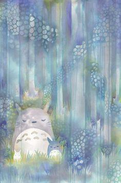 Totoro by pinwheelbunny dA l tumblr