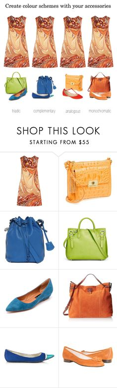 """""""Create colour schemes with your accessories"""" by ketutar ❤ liked on Polyvore featuring STELLA McCARTNEY, Brahmin, Alexander McQueen, Ralph Lauren, Steven, Tommy Hilfiger, Jimmy Choo, MINNA and Anne Michelle"""