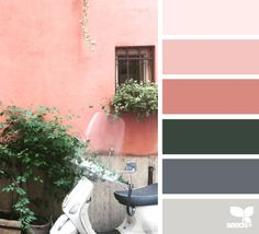 Color View - http://design-seeds.com/home/entry/color-view30 #Colors #Pink #Green