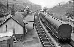 Blaengwynfi Station, with train