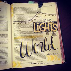 Bible Journaling, My work - Cassi B (bright_forest) Philippians 2:15