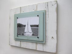 Distressed White Plank Frame for 5x7 Photo by TheBoathouse1, $59.00