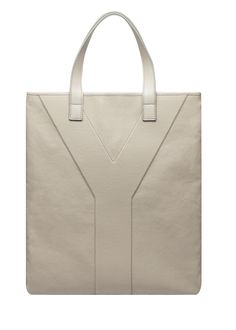 Yves Saint Laurent Men Y Tote in Sand Canvas 1 600x839