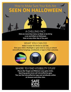 Make sure your child is SEEN ON HALLOWEEN!