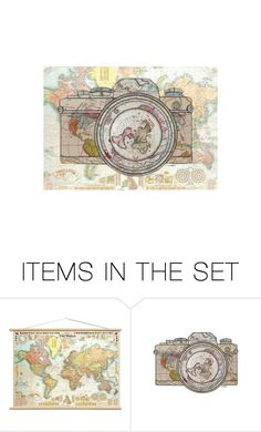 """Let's travel the world!"" by the-wingless-angel ❤ liked on Polyvore featuring art"