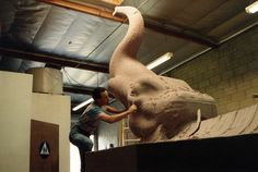 """Here I am actually sculpting the La Brea Tar Pits Mammoth for the feature film, """"Volcano"""" starring Tommy Lee Jones, Anne Heche and Don Cheadle. Movie Release: 1997. Mammoths sculpted in summer 1996 at Brizzi Cole Studios, Van Nuys, California.   https://www.etsy.com/shop/BlaiseGaubaSculptor?ref=si_shop  https://www.facebook.com/BlaiseGaubaSculptor/photos_stream"""