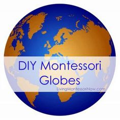 Roundup post with DIY Montessori sandpaper globe and continents globe plus presentation and extension ideas