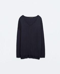 Image 6 of OVERSIZED V-NECK SWEATER from Zara