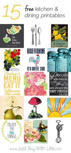 Printables Kitchen |