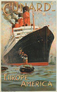 "Cunard - Europe - America - ""Aquitania"" - 1914 -"