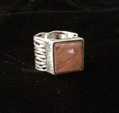 Silpada .925 Sterling Silver Pink Cherry Crystal Ring #R1191 Retired Size 7
