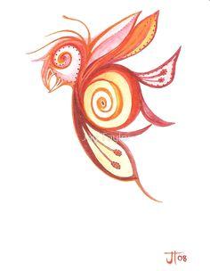 Artisan Rainbow: Birderfly Print by Jay Taylor