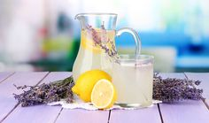 Sweeten your lemonade and melt your stress away with lavender lemonade.