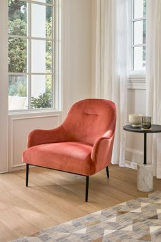 The Embrace chair has curved arms and back that fit you in all the right places while its deep, plush seats keep you fully supported and relaxed. #MidCenturyModern #ScandiDesign #LivingRoomInspiration #VelvetChair Cool Chairs, Lounge Chairs, High Quality Furniture, Modern Furniture, Low Chair, The Embrace, Living Room Inspiration, Midcentury Modern, Accent Chairs