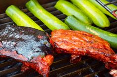 Claret and Cobalt Ribs (Blueberry BBQ Sauce & The Red BBQ Sauce!)
