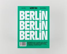 Node Berlin Oslo on its typography-led design for LOST iN travel guides.