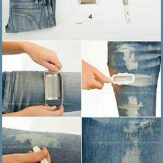 Ripped Jeans - DIY - AllDayChic