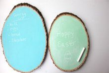 diy chalkboard tree signs