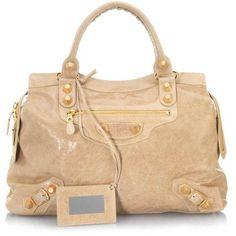 Gold Balenciaga Handbag