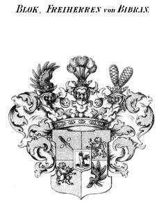 Familienwappen von Bloch, der Freiherren von Bibran   Von Bloch - Freiherr von Bibran Coat of Arms