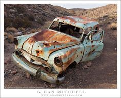Chevy Sedan Delivery, oldsmobile, decay, rusty, sand, transportation, history, photograph, photo.