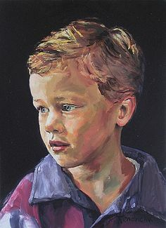 Portrait of a boy -- by Guus Hendrickx (b.1957, Dutch)