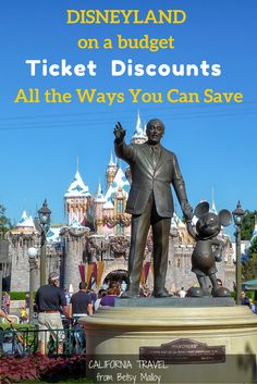 Disneyland tip for saving money - Tickets can cost as much as - or more than - your hotel room. Use these 9 ideas to spend less on them