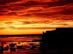 Atardecer en Cádiz / Sunset over Cádiz, by @HistoriadeCadiz