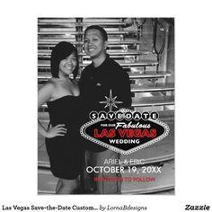 Las Vegas Save-the-Date Custom Postcard