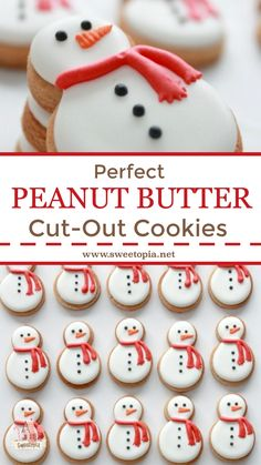 Perfect Peanut Butter Cut Out Cookies - Recipe for the perfect peanut butter cut-out cookies. Recipe for the perfect peanut butter cut-out - Christmas Sugar Cookies, Christmas Sweets, Christmas Cooking, Holiday Cookies, Christmas Desserts, Christmas Cut Out Cookie Recipe, Christmas Cookies Cutouts, Christmas Tree, Butter Sugar Cookies