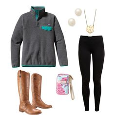 Love that Patagonia pullover + the boots!