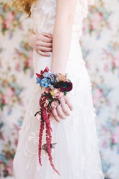 Gorgeous floral arm band...perfect accessory for a wedding! Photo Credit: http://alixannlooslephotography.com/. Flower Design by http://allisonbaddley.com/. From http://www.100layercake.com/blog/2015/06/04/unique-floral-bridal-inspiration-floral-bridal-hairstyles/.
