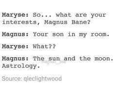 magnus bane, the mortal instruments, tmi, magnus and alec, maleç ...