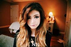 kinda dying to get my hair like this <3  #hair #dyed hair #ombre #chrissy costanza