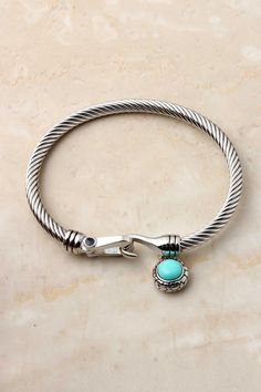 turquoise cable cuff